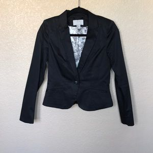 H&M Black Blazer with Floral Interior